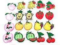Аппликация клеевая фрукты 20шт в упак