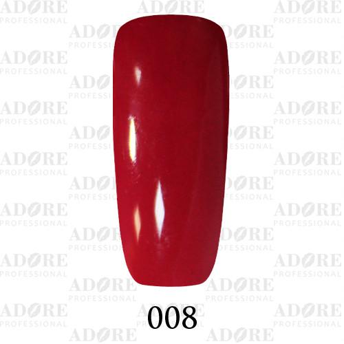 Гель лак Adore №008 , Светлый вишневый  9 мл