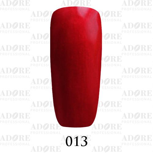 Гель лак Adore №013 , Красный с перламутром 9 мл