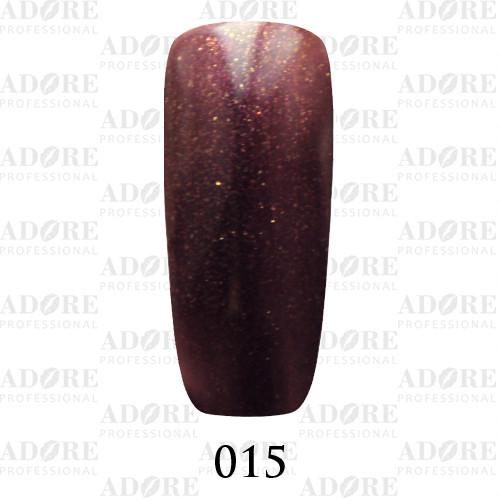 Гель лак Adore №015 , Сливовый-золотистый 9 мл