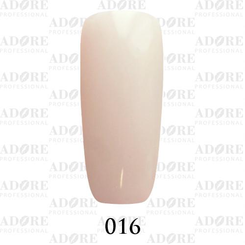 Гель лак Adore №016 , Молочно-белый 9 мл