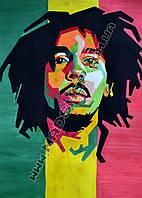 Картина 40х60 см Боб Марли Нарисованный портрет