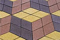 Тротуарна плитка Ромб Золотий мандарин, фото 1