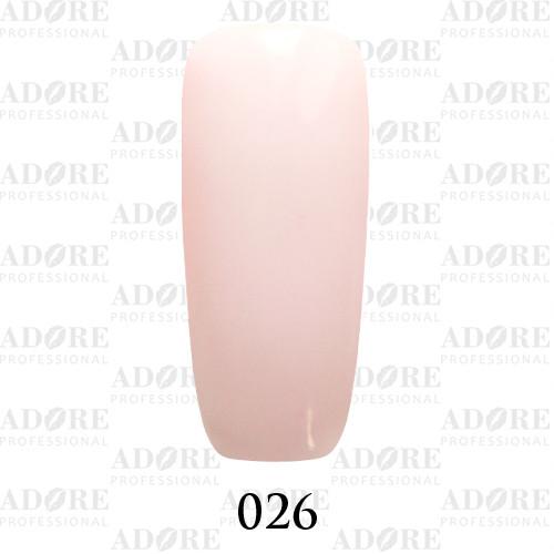 Гель лак Adore №026, холодный розовый 9 мл