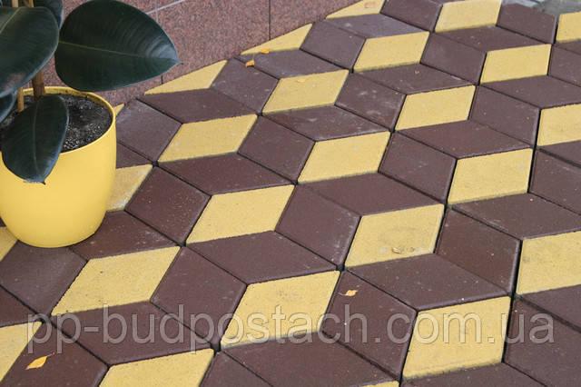 Тротуарна плитка Ромб Золотий мандарин асортимент