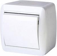 Выключатель одноклавишный e.aqua.1111.gr для внешнего монтажа, IP44 (арт. s035051)
