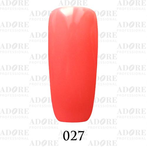 Гель лак Adore №027, коралловый 9 мл
