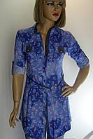 Жіноча сорочка-туніка джинс Aemino