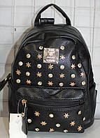 Ранец Рюкзак Стильный гладкая Искусственная Экко-кожа  с камнями  K 17-501-22