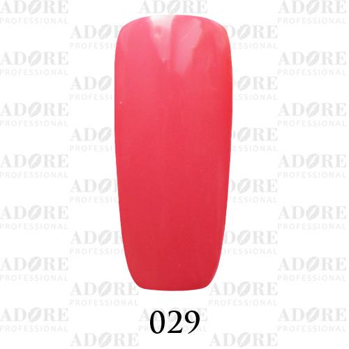 Гель лак Adore №029, розово - коралловый 9 мл