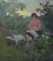 Петухов В.А. ,,Женщина с детям,,  1966