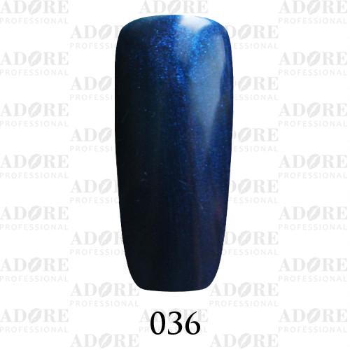 Гель лак Adore №036, сапфировый с микроблеском 9 мл