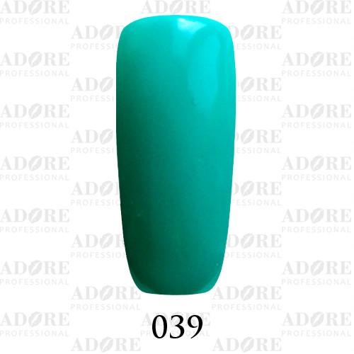Гель лак Adore №039, зеленый морской 9 мл