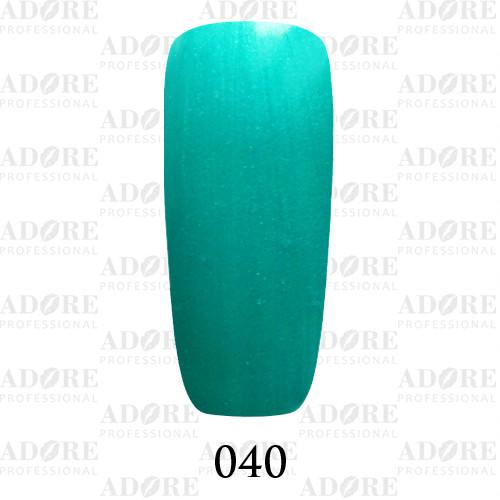 Гель лак Adore №040, сине-зеленый 9 мл