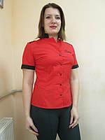 Рубашка официанта с коротким рукавом