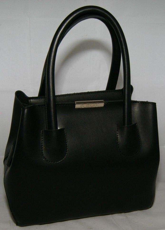 Чёрная женская мини сумка-шопер B.Elit