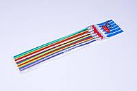 """Карандаши графитные пластиковые """"LeiLei"""" 18 см, гибкие с ластиком (6 шт)"""
