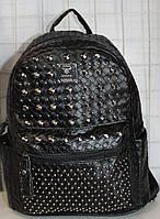 Ранец Рюкзак Стильный Плетение Искусственная Экко-кожа  с камнями  K 17-502-1