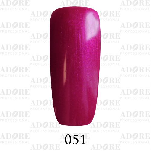 Гель лак Adore №051, розовый пурпурный 9 мл