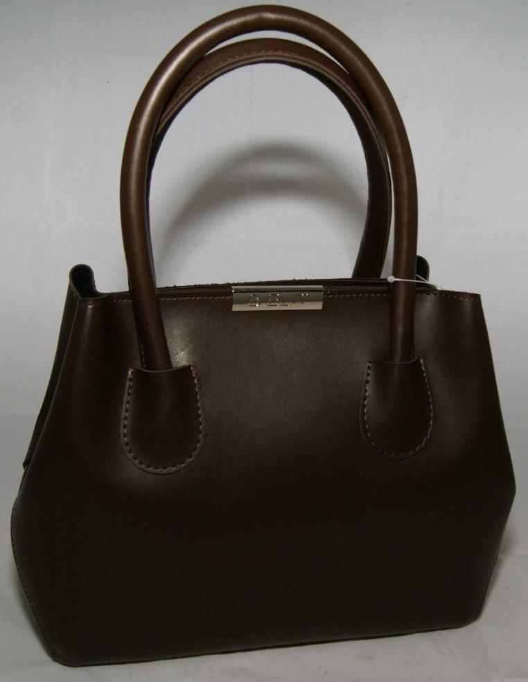 Коричневая женская мини сумка-шопер B.Elit