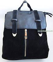 Кожаная женская сумка портфель. Женский кожаный рюкзак. СРП1