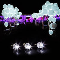 Светодиоды для воздушных шаров,Шар, белый, Мигающий