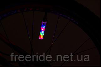 """Колпачок ниппеля """"13 рисунков"""" 11 диодов (к-кт 2 шт) подсветка колеса, фото 2"""