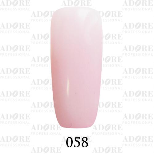 Гель лак Adore №058, розовый френч 9 мл