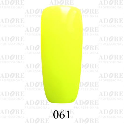 Гель лак Adore №061, кислотный желтый 9 мл