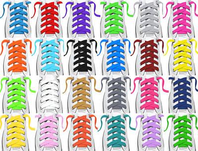 Плоский кольоровий шнур