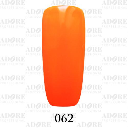 Гель лак Adore №062, кислотный оранжевый 9 мл