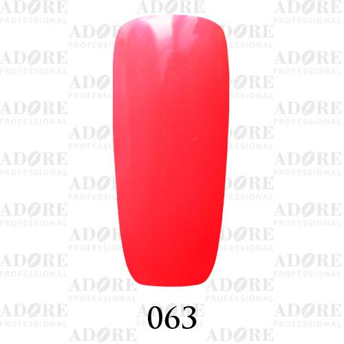 Гель лак Adore №063, кислотный розовый 9 мл