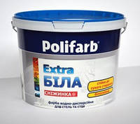 Polifarb СНЕЖИНКА 7кг – Акриловая водно-дисперсионная краска для потолков и стен