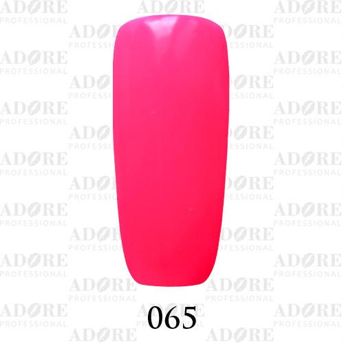 Гель лак Adore №065, кислотный яркий розовый 9 мл