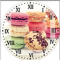Часы настенные стекло/кругл. 28 см Пирожное