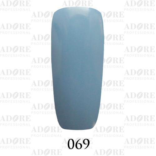 Гель лак Adore №069, бледно-васильковый  9 мл