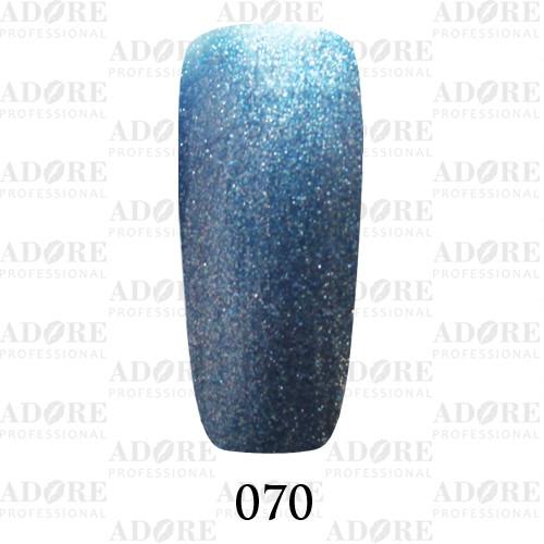 Гель лак Adore №070, лазурный хром   9 мл