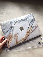 """Дизайнерский мраморный светлый чехол для MacBook Pro Retina 13"""""""