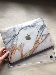 """Дизайнерский мраморный светлый чехол для MacBook Air 11"""""""