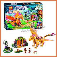 """Конструктор Bela Fairy 10503 аналог Lego Elves 41175 """"Лавовая пещера дракона огня"""", 446 дет."""