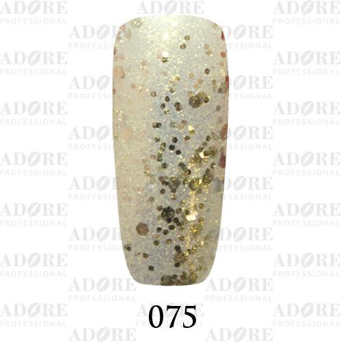 Гель лак Adore №075, золотые блёстки разного размера  9 мл