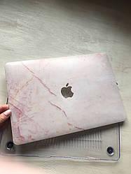 """Дизайнерский розовый мраморный чехол для MacBook Air 11"""""""