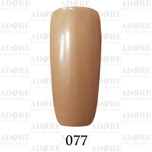Гель лак Adore №077, песочный с микроблеском 9 мл