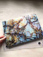 """Дизайнерский голубой мраморный чехол для MacBook Air 11"""""""