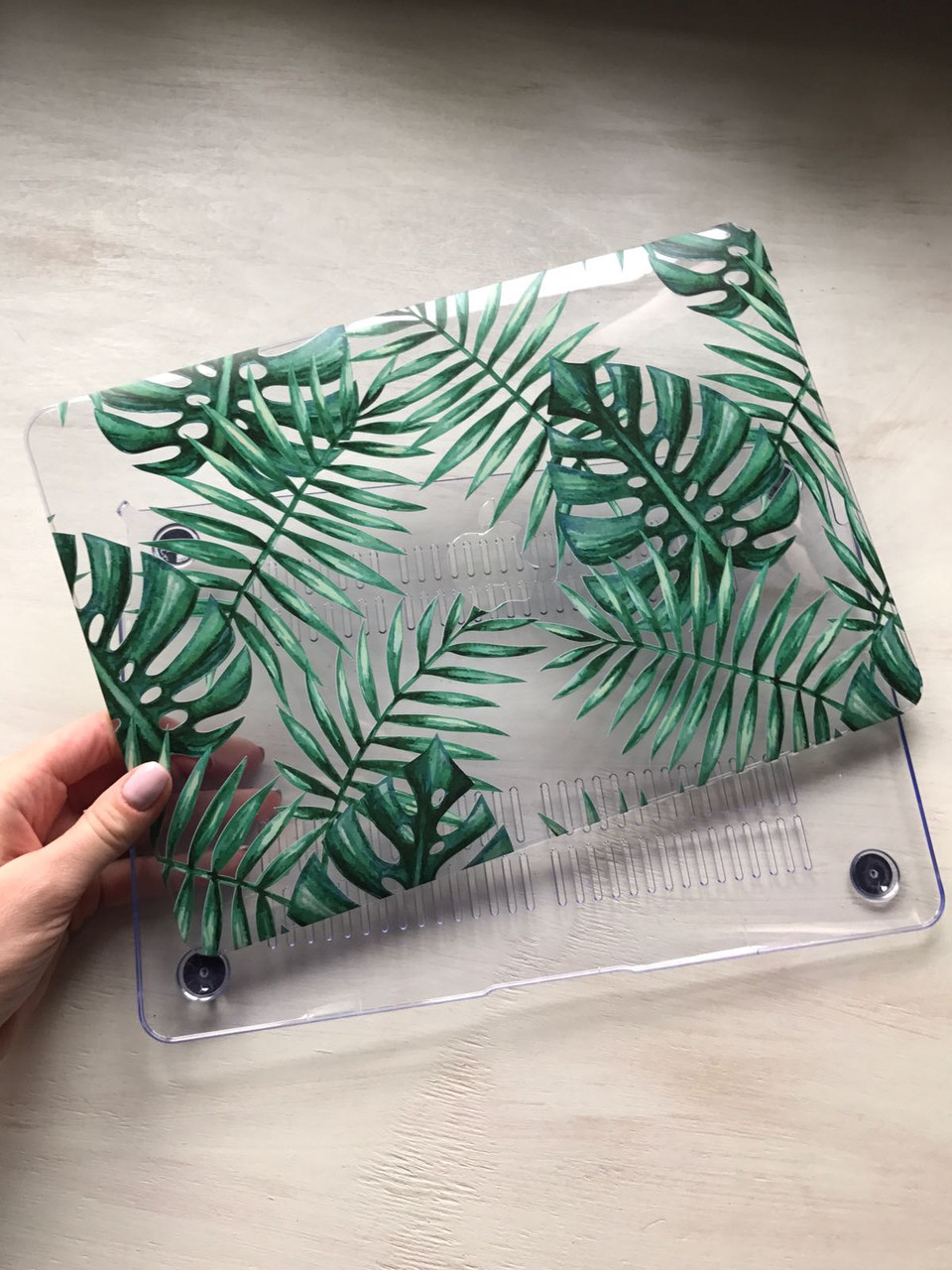 """Дизайнерский прозрачный чехол с листьями для MacBook Air 11"""""""