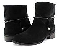Замшевые женские ботинки R. Netti на байке. Низкий каблук, натуральная кожа. 36