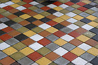 Тротуарна плитка Квадрат маленький (100х100) Золотий мандарин