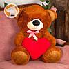 Плюшевый мишка Томми  с сердцем, 70 см, коричневый, фото 2