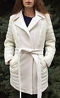 Пальто женское с кашемировыми вставками, фото 1