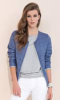 Женский жакет на молнии джинсового цвета. Модель Elara Zaps, коллекция весна-лето 2017.